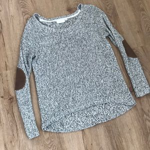 RD Style Marled Elbow Patch Sweater